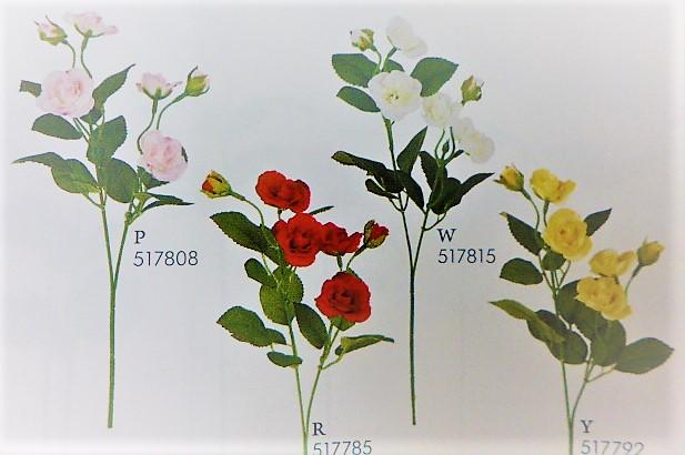 1本¥138造花(ミニローズ・単色36本入り)2810