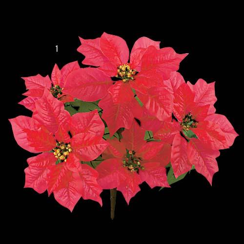 耐水耐UV仕様ポインセチアブッシュ(5輪付き・花径9〜11cm)FLBU6716