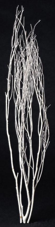 クリスマス枝ツリーブランチ約110〜120cm(ホワイト)自然枝ND382