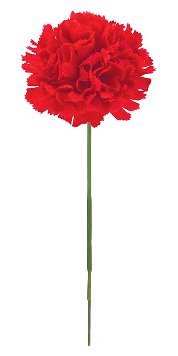 花の日造花カーネーション(ピック24本・レッド)花径7全長20cmFLP6019