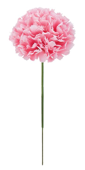 花の日造花カーネーション(ピック24本・シフォンピンク)花径7全長20cmFLP6019
