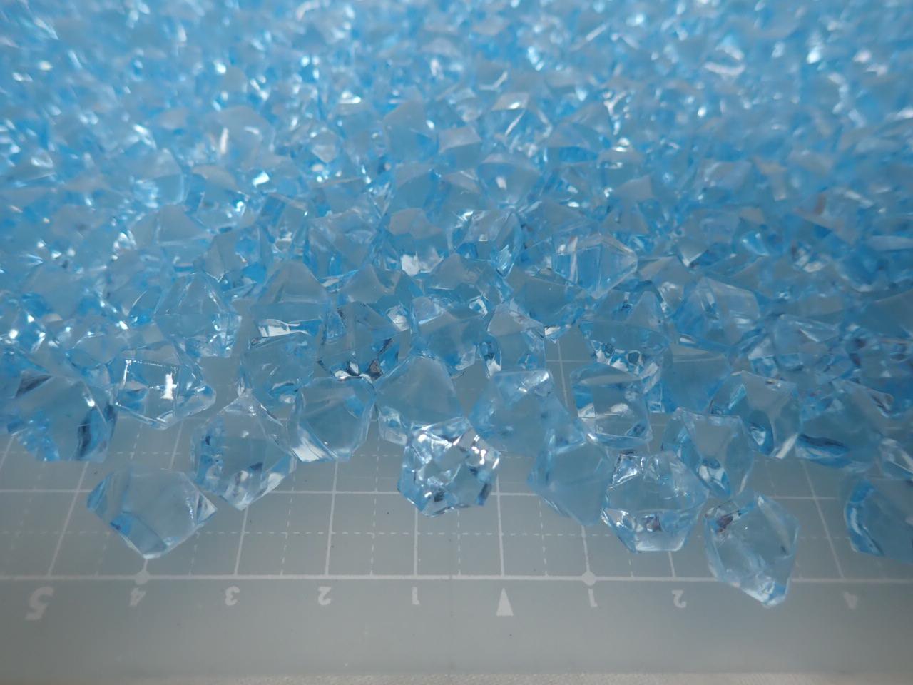 アクリルアイス・ディスプレイアイス・イミテーションアイス・透明石(S・約1cm)ブルー250g約330粒