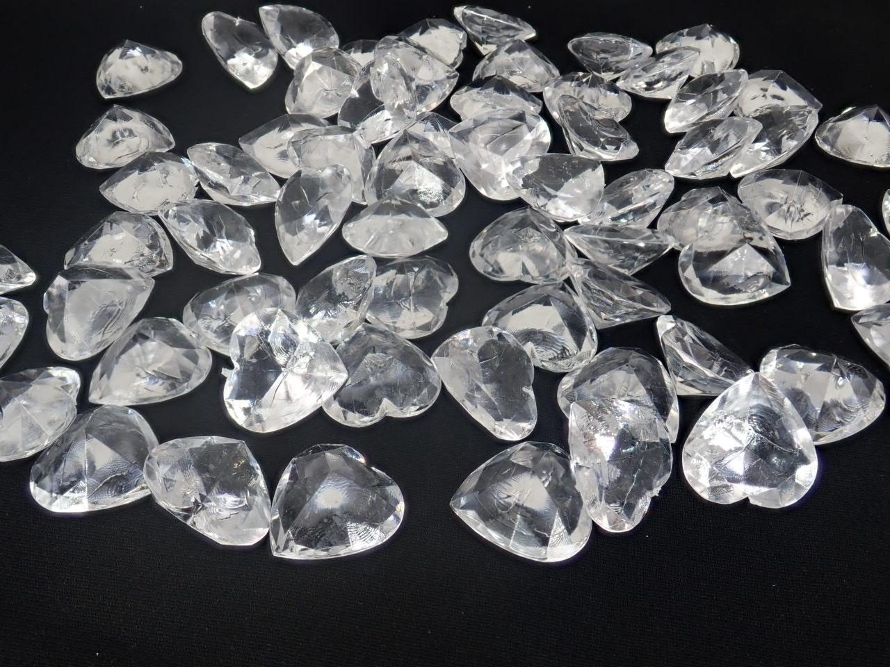 アクリルクリスタルアイス(ハート型クリア1、7cm約70粒