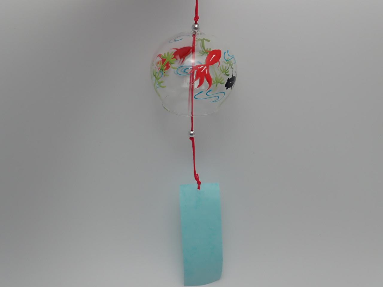 ガラス風鈴8cm(金魚柄)