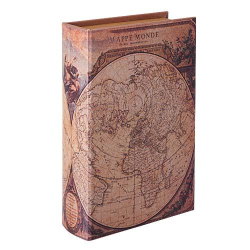 アンティーク風ブック(30cmオールドブックマップ)塩化ビニール製DIBK7008