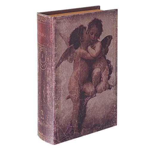 アンティーク風ブック(30cmオールドブックエンゼル)塩化ビニール製DIBK7009