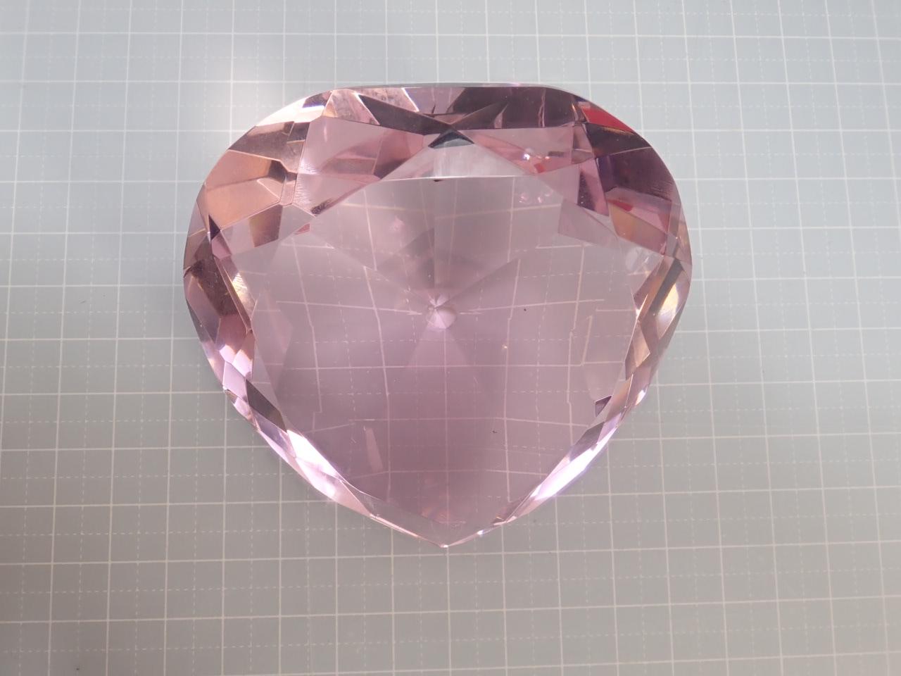 ハートジュエル(L・8cm)クリスタルガラス製