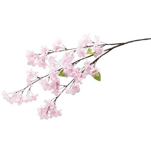 卸販売造花桜(新桜中枝・全長80cm花径4,5cm・3本入り)FLSP1949他商品同送不可