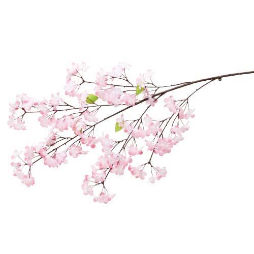 卸販売造花桜(新紅桜大枝・全長110cm花径4,5cm・2本入り)FLSP1947他商品同送不可