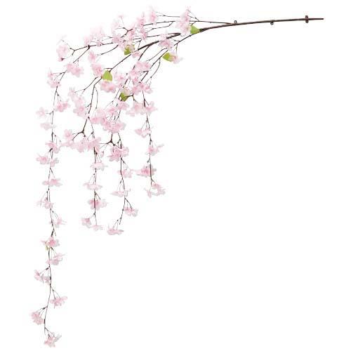 卸販売造花桜(新しだれ桜大枝・全長160cm花径4,5cm・2本入り)FLVI1364他商品同送不可