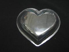 透明ハート(10cm)皿状