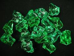 アクリルアイス透明石・(M)グリーン250g