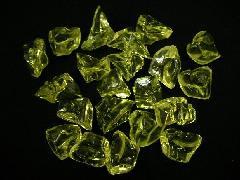 アクリルアイス・ディスプレイアイス・イミテーションアイス・透明石(M約2.5cm)イエロー250g