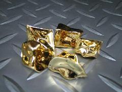 アクリルアイス・ディスプレイアイス・イミテーションアイス・透明石(M・約2.5cm)メッキゴールド250g