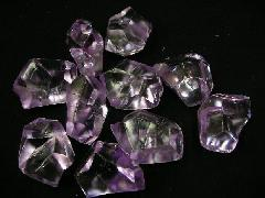 アクリルアイス・ディスプレイアイス・イミテーションアイス・透明石(L)パープル250g