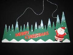 在庫処分・クリスマスタイトル(サンタ・両面)