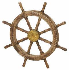 海飾り(舵輪61cm・木製)コンビニ後払い