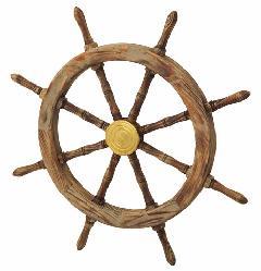 海飾り(舵輪76cm・木製)コンビニ後払い