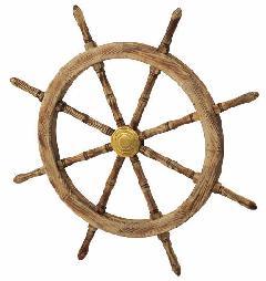 海飾り(舵輪91cm・木製)コンビニ後払い