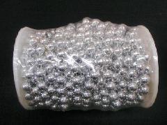 在庫処分(ボール・ビーズガーランドロール)銀・10mmΦ×10M巻