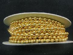 在庫処分(ボール・ビーズガーランドロール)濃い金・約4mmΦ×4M巻