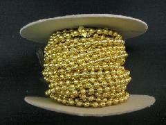 在庫処分(ボール・ビーズガーランドロール)薄金・約4mmΦ×4M巻