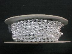 在庫処分(ボール・ビーズガーランドロール)銀・約4mmΦ×約10M巻