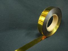 イベント用メッキテープ   2,5cm幅200M巻き粘着なし(金色)
