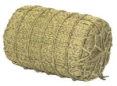 正月飾り・化粧俵(大)直径34・長さ54cm・自然素材ND318L