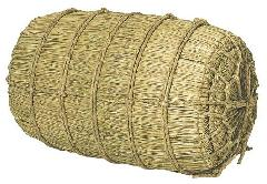 正月飾り・化粧俵(特大)直径47・長さ75cm・自然素材ND318LL