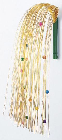 正月飾り・しだれ水引舞い玉飾り(L・金/銀)全高60cmDE0502