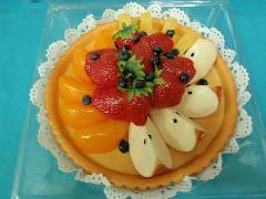 食品サンプルデザート(200mmフルーツタルト)DICA7002