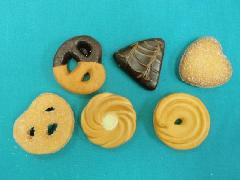 食品サンプルデザート(50mmクッキー6個セット)DICA7008