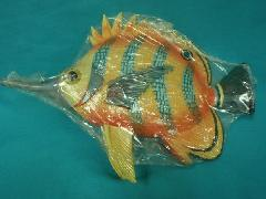 在庫処分ディスプレイ・トロピカルフィッシュ(オレンジ/ブルー)L30cm