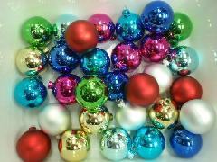在庫処分特価(クリスマスボール・50mm・30粒入り)