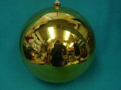 在庫処分特価(擦れ有り)ゴールド25cmメッキボール