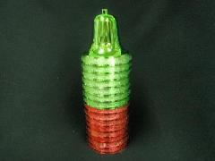 在庫処分特価セット(ベル・中・10cm・15ケセット)red&grSET