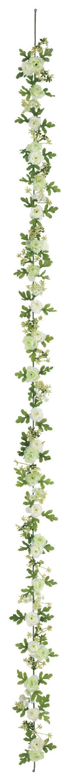 屋内用造花ミニバラガーランド(ミニローズ・ライムグリーンミックス・全長180cm/花径1.5〜4cm)FLG−3025