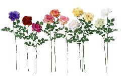 ブライダル用造花(ロスチャイルドローズ・ソフトピンク・花径10cm)FLS714