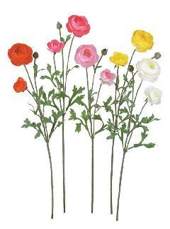 ブライダル用造花(ビクトリアラナンキュラス・ホワイト・花径5.5〜8cm)FLS5053