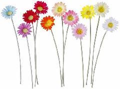 ブライダル用造花(デイジー・ライトイエロー・花径10cm)FLS0528