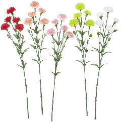 ブライダル用造花(カーネーション×5・ホワイト・花径4〜5cm)FLS5020