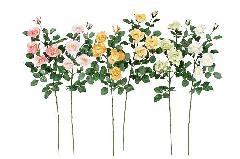 ブライダル用造花(アレクサンダーローズ×5・ホワイト・花径5〜8cm)FLS5005