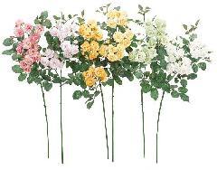ブライダル用造花(ルビーリップローズ×13・ホワイト・花径4cm)FLS5031