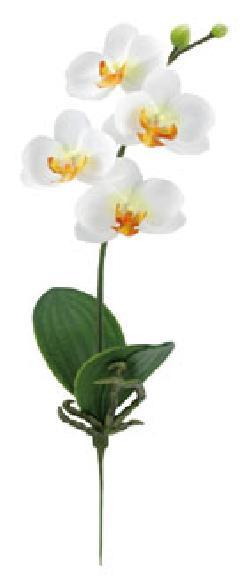 ブライダル用造花(ミニ胡蝶蘭×4・ホワイト・花径6cm)FLS5182