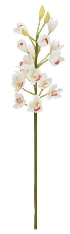 ブライダル用造花(シンビシューム×15・ホワイト・花径4cm)FLS5157