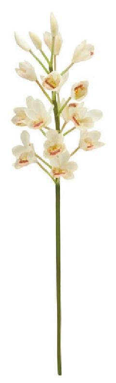 ブライダル用造花(シンビシューム×15・クリーム・花径4cm)FLS5157