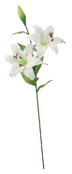 ブライダル用造花(カサブランカ×2・ホワイト・花径20cm)FLS5176