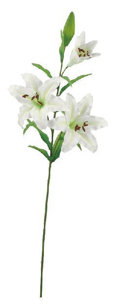 ブライダル用造花(カサブランカ×3・ホワイト・花径8〜20cm)FLS5177