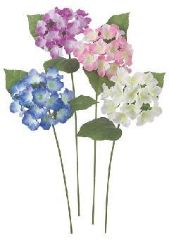 ブライダル用造花(アジサイ・ホワイト・花径13cm)FLS5045